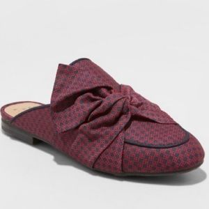 A New Day Natalee Bow Backless Mules